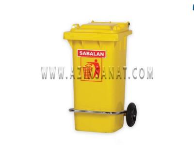 مخزن زباله 100 لیتری پدالدار