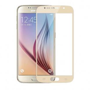 محافظ صفحه نمایش شیشه ای طلایی Samsung Galaxy S6