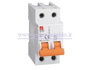 کلید مینیاتوری (mcb) دو پل / دو فاز 40 آمپر ، LS
