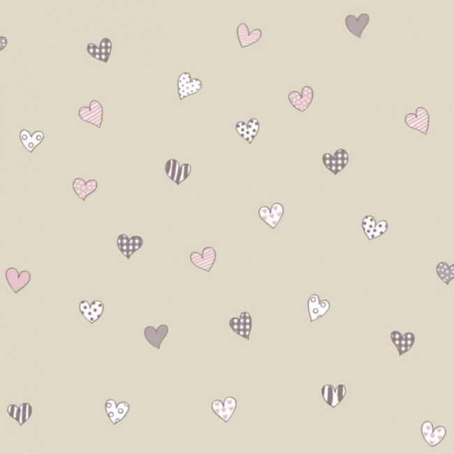 کاغذ دیواری بیمبی طرح قلب 1342