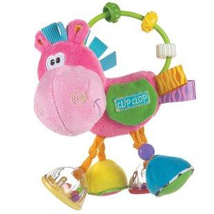 عروسک اسب حلقه و مهره صورتیplaygro کد183303