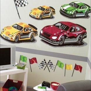 نقاشی دیواری مسیر مسابقه ماشین ها کد 15202