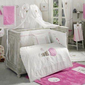 ست 9تکه سرویس خواب cute bear pinkکودک kidboo
