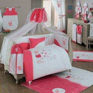 ست 9تکه سرویس خواب elephants pink کودک kidboo