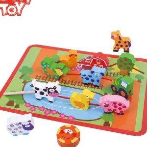 پازل 12 تکه حیوانات مزرعه چوبی tooky_toys کدtkb510