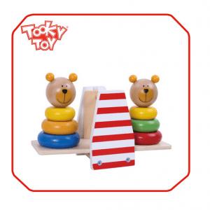 پازل خرس تعادلی چوبی tooky_toys کدtkb499