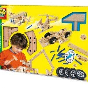 ست کامل نجاری چوبی کودک با ابزار ses کد14946
