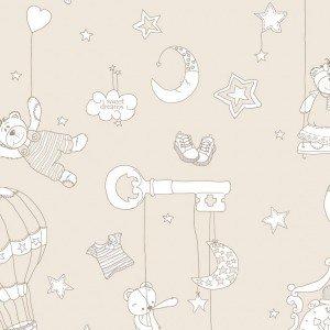 کاغذ دیواری ایتالیایی اتاق کودک - بیم بوم بام 2232