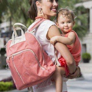 کیف مادر کوله گلبهی 4تکه کودک okiedog کد35004