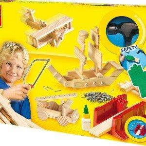 ست نجاری چوبی کودک با ابزار ses کد944