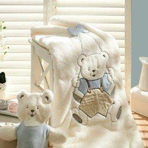پتو طرح خرس دو تکه با عروسک bebemini