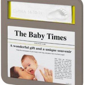 قاب عکس کودک  news print frame taupe کد34120088
