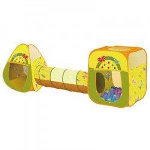 چادر پروانه اي مكعبي تونل و مخروطي همراه با 100 عدد توپ ching ching کد cbh-24