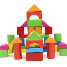 خانه سازی چوبی 40 تکه رنگی