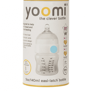 شیشه شیر 140 میل آنتی کولیک آبی Yoomi