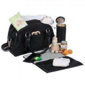 کیف 4 تکه لوازم نوزاد lassig مدل Shoulder Bag رنگ black کد lsb501