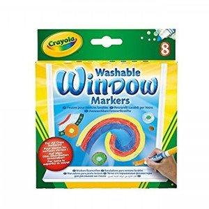 ماژیک قابل شست و شو 8 رنگ مخصوص شیشه  crayola کد 8165