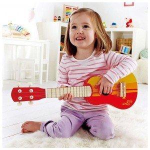 گیتار چوبی کودک  Ukulele, red hape کد 0316