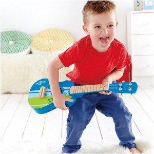 گیتار چوبی کودک  Ukulele, blue hape کد 0317