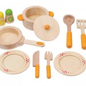 ست آشپزی چوبی کودک برندGourmet Kitchen Starter Set hape کد3103