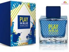 عطر  مردانه  پلی این بلو سداکشن برند آنتونیو باندراس  ( ANTONIO BANDERAS  -  PLAY IN BLUE SEDUCTION FOR MEN    )