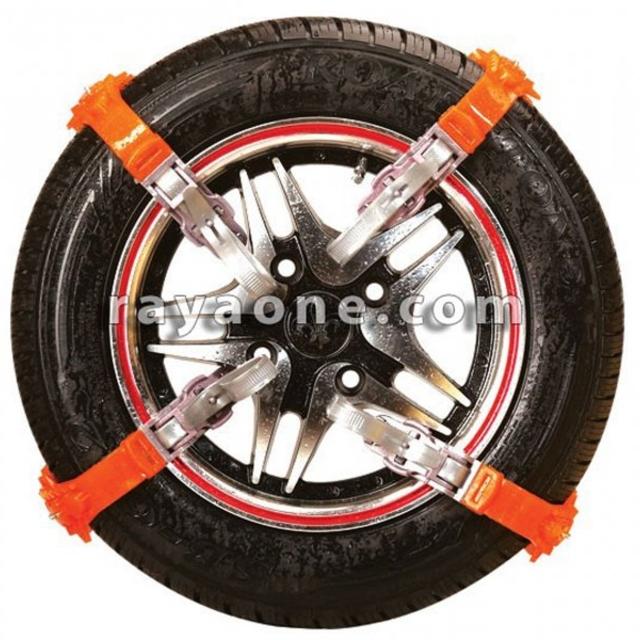 زنجیر چرخ پلیمری 8 بندی نارنجی