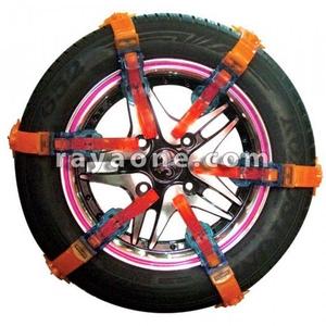 زنجیر چرخ پلیمری 12 بندی قرمز