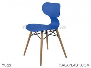 صندلي بدون دسته يوگو با پايه چوبی