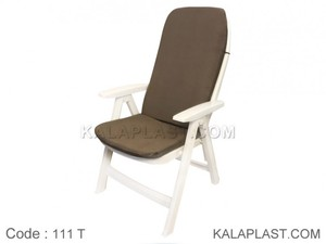 صندلی دسته دار تاشو ساحلی کد 111 با تشک