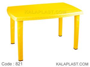میز 6 نفره با چهارپایه لوله ای پلاستیکی کد 821