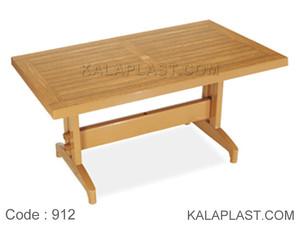 میز 6 نفره مستطیل پلاستیکی طرح چوب کد 912 (80*140)