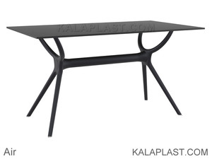 میز 6 نفره مستطیل صفحه HPL اِیر ساخت ترکیه (طول 140 cm)
