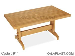 میز 6 نفره مستطیل پلاستیکی طرح چوب کد 911 (70*120)