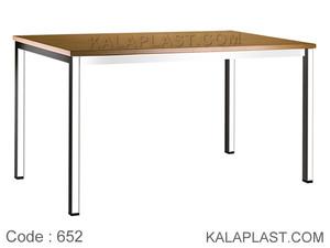 میز 6 نفره صفحه PVC با چهارپایه پروفیلی کد 652