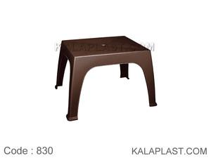 میز کودک و عسلی پلاستیکی یک تکه کد 830