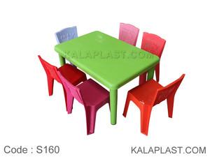 ست میز و صندلی کودک 6 نفره کد S160