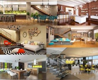 دانلود مجموعه تصاویر طراحی داخلی ساختمان Interior Design Stock Photo Collection 1