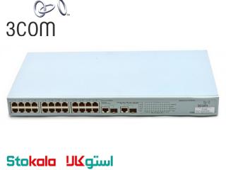 سوییچ شبکه کارکرده 3Com 2226-PWR Plus - 24 ports